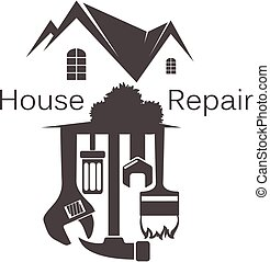 Home repair with tool