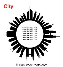 City in circle shape
