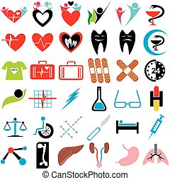 Set of Medical Icons Symbols and Signs