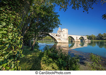 Avignon Bridge in Avignon, Provence, France