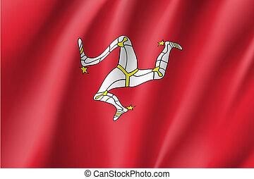 Isle of Man national flag  illustration