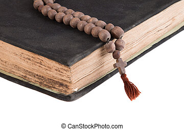 Bible on a white background.