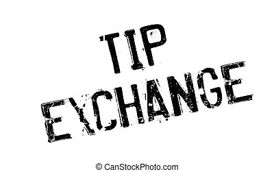 Tip Exchange rubber stamp. Grunge design with dust...