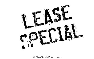 Lease Special rubber stamp. Grunge design with dust...