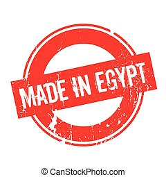 Made In Egypt rubber stamp. Grunge design with dust...