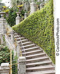 detail of villa rocca garden in chiavari