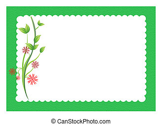 flowers with scalloped border