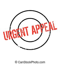 Urgent Appeal rubber stamp. Grunge design with dust...