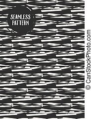 Abstract concept vector monochrome geometric pattern. Black...