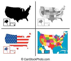 USA Maps Collection