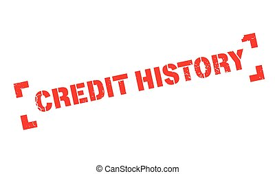 Credit History rubber stamp. Grunge design with dust...