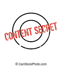Content Secret rubber stamp. Grunge design with dust...