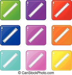 Ruler icons 9 set