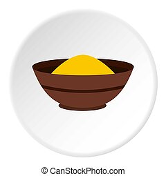Curry spices icon circle