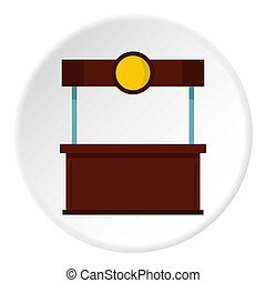 Empty counter with canopy icon circle - Empty counter with...