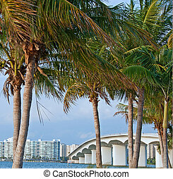 Ringling Causeway - A photo of the Ringling Causeway in...