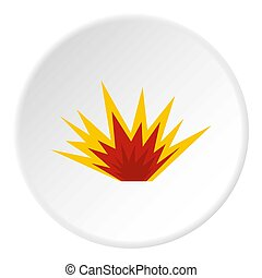 Nuclear explosion icon circle - Nuclear explosion icon in...