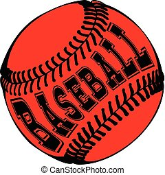 baseball - Abstract vector illustration black and red...