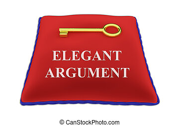Elegant Argument concept - 3D illustration of 'ELEGANT...
