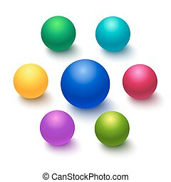 Colorful sphere or ball isolated on a white background....