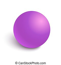 Pink glossy ball vector illustration - Pink glossy sphere...