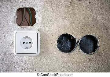 Socket - electrical socket and electrical system on a wall