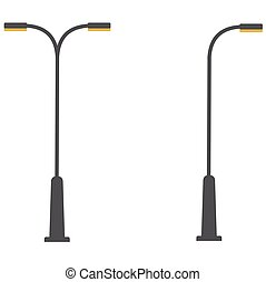 Street lamp single and double