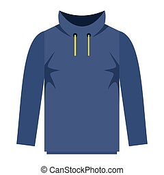 Hoody fashion clothes for modern man and woman. Flat icon...