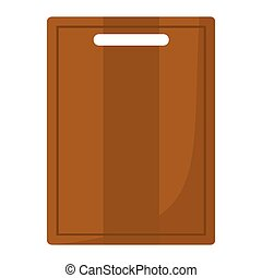Cutting board cartoon icon. Kitchen tool, cookware and kitchenware vector illustration