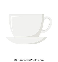 Cup dish cartoon icon. Kitchen tool, cookware and kitchenware vector illustration