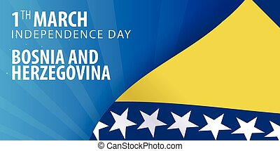 Independence day of Bosnia and Herzegovina. Flag and...