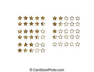 gouden, shoppen, Terugkoppeling, Bespreken, koers,  Vector, vijf,  Online, ster, schitteren, pictogram