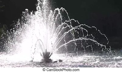 Fountain in slow motion.