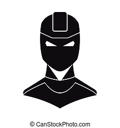 Superhero illustration in flat silhouette style