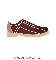 Bowling shoes in flat style. Vector illustration