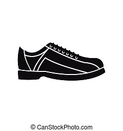 Bowling shoes in silhouette style. Vector illustration