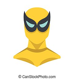 Superhero illustration in flat cartoon style