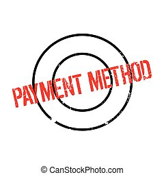 Payment Method rubber stamp. Grunge design with dust...