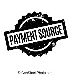 Payment Source rubber stamp. Grunge design with dust...