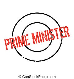 Prime Minister rubber stamp. Grunge design with dust...