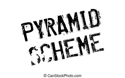 Pyramid Scheme rubber stamp