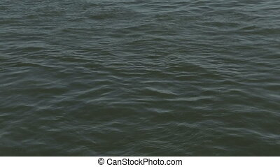 River background water glitters small waves
