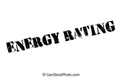 Energy Rating rubber stamp
