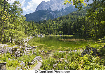 Lake Prillensee Near The Eibsee, Germany - The small lake...