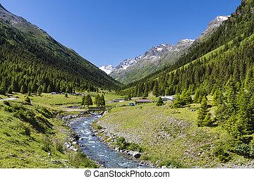 Jamtal Menta Alm, Austria - Menta Alm in the Jamtal valley...