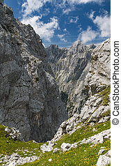 Hoellental Canyon In Garmisch, Germany - View from...