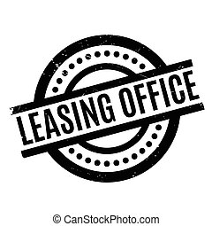 Leasing Office rubber stamp. Grunge design with dust...
