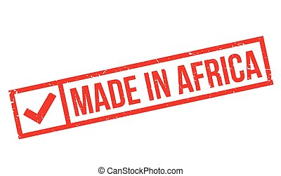 Made In Africa rubber stamp. Grunge design with dust...