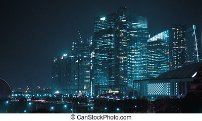 Modern city at night