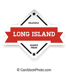 Long Island iced tea vintage vector